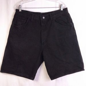 36  Mens Vintage Wrangler Black Denim Shorts Jeans